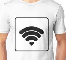 Empathy, Feel Me, WIFI, Heart, Love, I Feel You, Listen, Friend, Tech Unisex T-Shirt