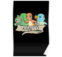 Kanto Starters from Pokemon Poster
