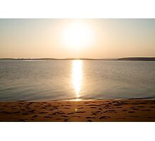 Sunsetting in Qatar Photographic Print