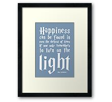 Happiness - Harry Potter Quote. Framed Print