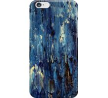 Abstract Art Acrylic Painting Original Titled: Blue Ocean iPhone Case/Skin