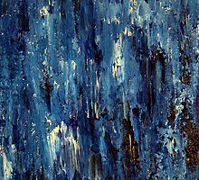 Abstract Art Acrylic Painting Original Titled: Blue Ocean by ZeeClark
