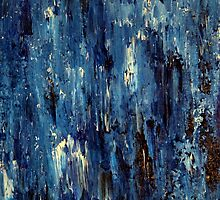 Abstract Art Acrylic Painting Original Titled: Blue Ocean by ZeeClark