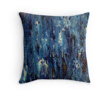 Abstract Art Acrylic Painting Original Titled: Blue Ocean Throw Pillow