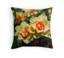 Frilly Daffodil Throw Pillow