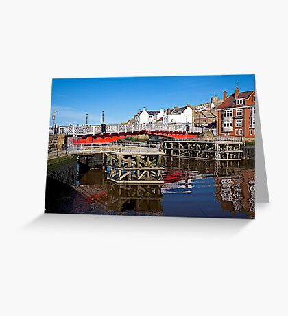 The Swing Bridge. Greeting Card