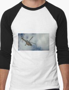 Militar helicopter Men's Baseball ¾ T-Shirt