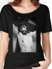 Jesus on the cross Women's Relaxed Fit T-Shirt