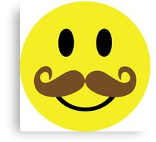 Smiley Face Mustache Canvas Print