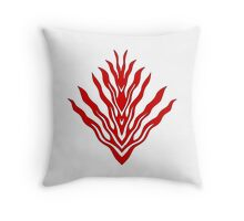 flames (red) - papercut pattern Throw Pillow