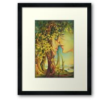 """"""" An Encounter at the Edge of the Forest"""" - postcard & greeting card Framed Print"""
