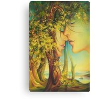 """"""" An Encounter at the Edge of the Forest"""" - postcard & greeting card Canvas Print"""