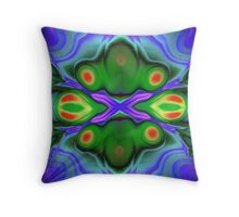 Blue Martini Throw Pillow