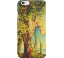 """ An Encounter at the Edge of the Forest"" - postcard & greeting card iPhone Case/Skin"