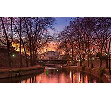 Sunset by the river Photographic Print