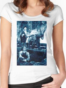 Rural scene Women's Fitted Scoop T-Shirt