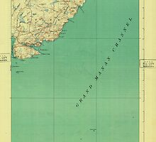 Maine USGS Historical Map Cutler 807457 1918 62500 by wetdryvac