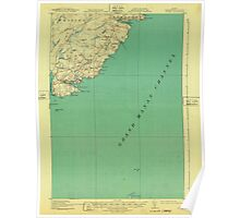 Maine USGS Historical Map Cutler 807457 1918 62500 Poster