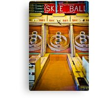 Skee Ball Vintage Boardwalk Game Canvas Print