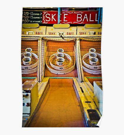 Skee Ball Vintage Boardwalk Game Poster