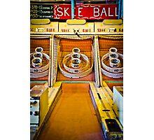 Skee Ball Vintage Boardwalk Game Photographic Print