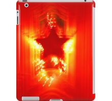 Red Christmas star iPad Case/Skin