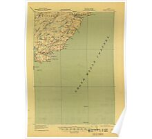 Maine USGS Historical Map Cutler 807458 1918 62500 Poster