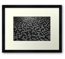 Chequered Paving Framed Print