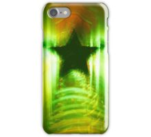 Green Christmas star iPhone Case/Skin