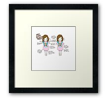 Baggy Shirts and Kittens Framed Print