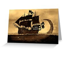 Tick tock the croc & Jolly Roger Greeting Card