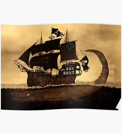 Tick tock the croc & Jolly Roger Poster