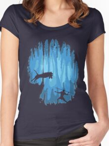 Grotto Women's Fitted Scoop T-Shirt