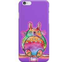 Cute Colorful Totoro! Tshirts + more! (watercolor) Jonny2may iPhone Case/Skin