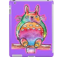 Cute Colorful Totoro! Tshirts + more! (watercolor) Jonny2may iPad Case/Skin