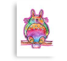 Cute Colorful Totoro! Tshirts + more! (watercolor) Jonny2may Canvas Print