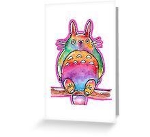 Cute Colorful Totoro! Tshirts + more! (watercolor) Jonny2may Greeting Card