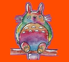 Cute Colorful Totoro! Tshirts + more! (watercolor) Jonny2may Kids Clothes
