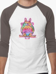 Cute Colorful Totoro! Tshirts + more! (watercolor) Jonny2may Men's Baseball ¾ T-Shirt