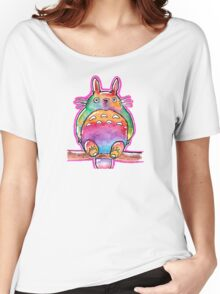 Cute Colorful Totoro! Tshirts + more! (watercolor) Jonny2may Women's Relaxed Fit T-Shirt
