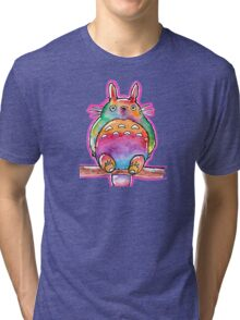 Cute Colorful Totoro! Tshirts + more! (watercolor) Jonny2may Tri-blend T-Shirt