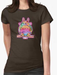 Cute Colorful Totoro! Tshirts + more! (watercolor) Jonny2may Womens Fitted T-Shirt