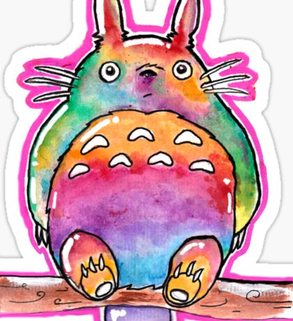 Cute Colorful Totoro! Tshirts + more! (watercolor) Jonny2may Sticker
