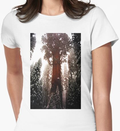 """General Sherman"" Sequoia National Park California Womens Fitted T-Shirt"