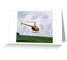 Follow the yellow brick helicopter Greeting Card