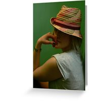 Emma in Fedora Greeting Card