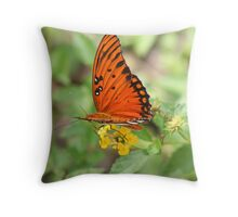 Agraulis vanillae butterfly Throw Pillow