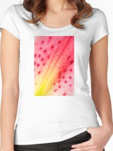 Abstract Macro Lily Women's Fitted Scoop T-Shirt