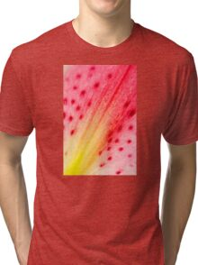 Abstract Macro Lily Tri-blend T-Shirt