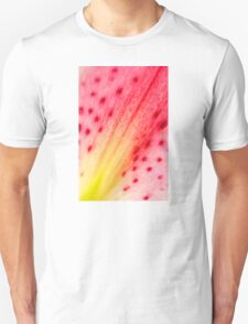 Abstract Macro Lily Unisex T-Shirt